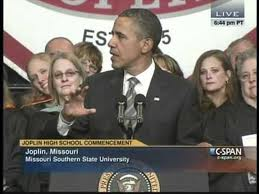Obama's Joplin graduation speech brings out the rabid right