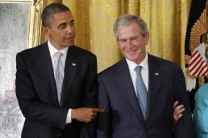 Obama's ego escapes at Bush portrait unveiling