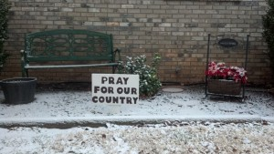 A sign for the times:  Pray For Our Country