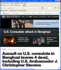 CBS/AP story used Obama/Clinton Benghazi video excuse just hours post attack