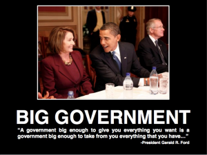 In government, bigger is not better