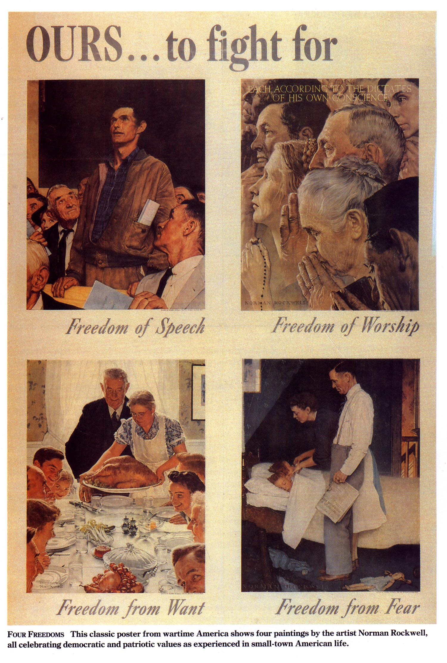 Romney On Climate Change >> Time to restore FDR and Rockwell's Four Freedoms | Caldwell's Corner