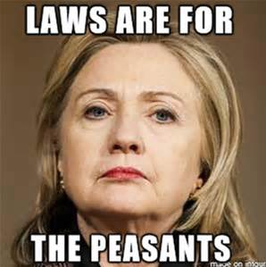 Rule of law meets Hillary-Marie Antoinette