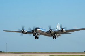 """Doc"" B-29 soars to flight while society crashes"