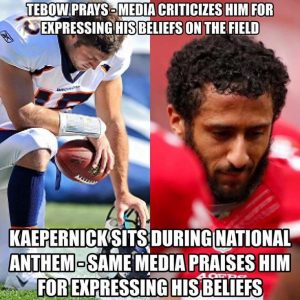 Kaepernick v Tebow:  A study in contrast