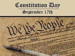 In the past, our future is found:  Constitution Day 2017